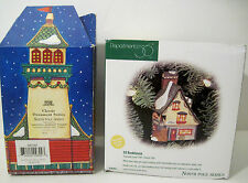 Dept 56 Lot Village LIGHTED Elf Bunkhouse Ornament & SANTA'S LOOKOUT TOWER mib