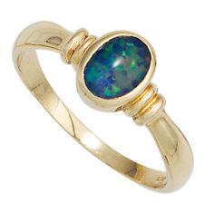 Natürliche Opal Echtschmuck aus Gelbgold