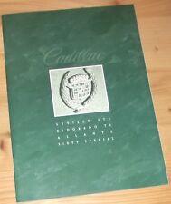 Prospekt Cadillac Programm 1992 Seville Eldorado Allante Sixty Special