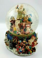 Santa Claus Is Coming to Town Large Musical Snow Globe W Rotating Base
