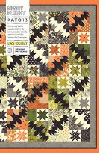 Night Flight ~ BasicGrey Quilt Pattern ~ Halloween bats stars pieced Basic Grey