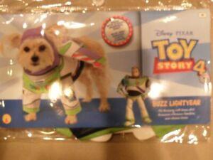 Buzz Lightyear Dog Costume S M L Toy Story Shirt, Headpiece, Wings - Rubies NWT