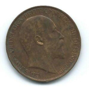 Great Britain - Edward VII Half-Penny 1910.