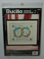 1994 Sealed NEW Bucilla TO LOVE Wedding Sampler Cross-Stitch Kit #40886 USA MADE