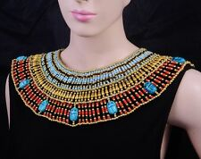 Large Egyptian 9 Scarabs Cleopatra Necklace Halloween Costume SALE LOWEST PRICES