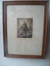 Gravure originale Ernesto FESTUCCI Basilique Santa Maria Della Salute 1890/1900