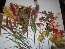 (17) Pc Assorted Artificial Silk Fall Craft Bundle Lot A-3