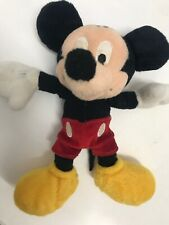 """Disney Mickey Mouse Plush Doll Stuffed Toy Licensed 8"""" Tall"""