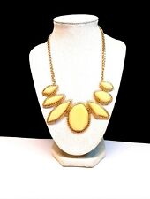 Gold Toned & Yellow Bib Necklace