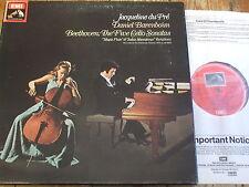 SLS 5042 Beethoven Cello Sonatas / Du Pre / Barenboim 3 LP box