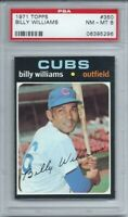 SET BREAK -1971 TOPPS # 350 BILLY WILLIAMS, PSA 8 NM-MT, HOF, CHICAGO CUBS, L@@K