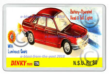 DINKY 176 NSU RO 80 BOX  ARTWORK NEW JUMBO FRIDGE LOCKER MAGNET