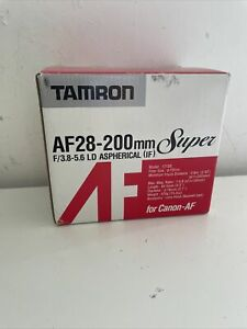 Tamron 28-200mm 3.8-5.6 Macro Aspherical LD (IF) 171DE Canon EF fit. NEW IN BOX