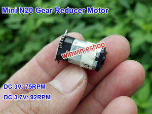 Micro N20 Gear Motor DC 3V 3.7V 90RPM Full Metal Gearbox Reducer Output DIY Toy