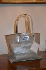 NEW 2017 MICHAEL KORS CHIC TOTE BAG 2 COMPARTMENTS BEIGE & SILVER NEW WITH TAGS!