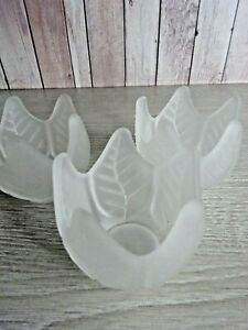 Partylite - P0290 -  Frosted Lotus Blossom Tealight Holders