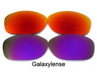 Galaxy Replacement Lenses For Oakley Pit Bull Sunglasses Red&Purple Polarized