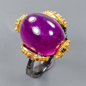 Rare color puple gem Ruby Ring Silver 925 Sterling  Size 8.25 /R172732
