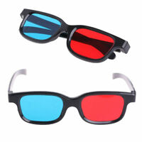 Fashion Red Blue 3D Glasses For Dimensional Anaglyph Movie Game DVD Multimedia