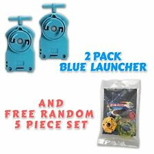 Beyblade 2 Pack BB-17 Blue String Launcher + Tips / Parts / Gift Card Pack