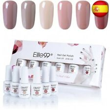 Elite99 Esmaltes Semipermanentes de Uñas en Gel UV LED, 6 Colores Kit de