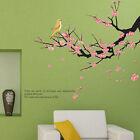 Plum Blossom Flower Tree Branch Bird Art Vinyl Wall Sticker Decal Home Decor NEW