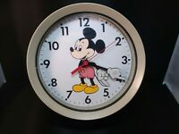 Vintage Mickey Mouse metal wall clock. Walt Disney Productions. LOOK!! READ!