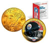 PITTSBURGH STEELERS NFL LICENSED 24K Gold Plated IKE Eisenhower Dollar US Coin