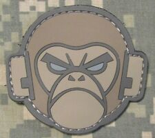 ANGRY MONKEY PVC FACE LOGO TACTICAL COMBAT MILSPEC MORALE ACU LIGHT HOOK PATCH