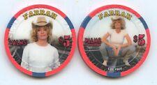 $5 PALMS FARRAH FAWCETT CHIP #1/2 UNC LAS VEGAS CASINO CHIP FREE SHIP & AIRTITE
