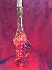 NEW Bling LIGHTS LAMP Electric LINDEN Cork Empty WINE BOTTLE With RED LEDs