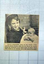 1949 Fiona Baby Daughter Of Major And Mrs Richard Sharples Christening