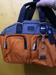 TUMI Briefcase 22340 HKH ALPHA BRAVO Everett Essential Tote Orange and Grey