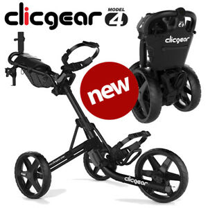 Clicgear 4.0 Golf Push Trolley Cart Black Umbrella + Drinks Holder - NEW! 2021