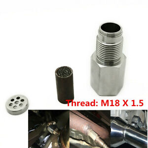 O2 Sensor CEL Eliminator M18X1.5 Catalytic Converter For Car Check Engine Light