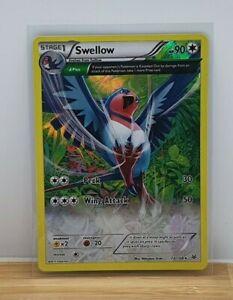 Swellow Holo Foil / Shiny Pokemon TCG Card XY Roaring Skies 72/108 Light Play