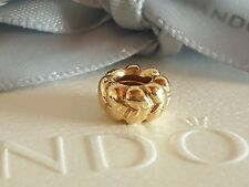 Authentic Pandora 14ct 14k Gold 'Big Hearts' Spacer - 750201