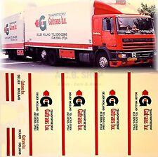 Daf Gatrans b.v. De Lier Holland (NL) 1:87 Truck Decal LKW Abziehbild