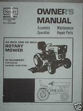 917.253580-90-Sears 42/48'' Rotary Mower- Owners Manual on CD