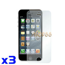3x Clear Lcd Screen Protector Film for Apple iphone 5 5G 5s