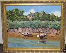fine art painting Arnaud Leturcq coastal scene boats