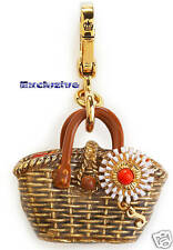 New $58 Juicy Couture Straw Basket Bracelet Charm