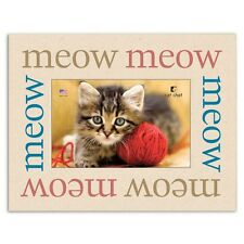 "Dog Speak Cat Lover Picture Frame - ""Meow Meow Meow"" - Made in the Usa"