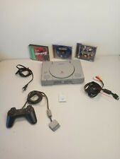 Sony Ps1 Playstation One Scph-5501 Console Bundle cords, controllers, 3 games. .