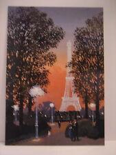 MICHEL DELACROIX Paris Post Card JARDIN DU TROCADERO LE SOIR