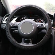 Black 3D Nylon Car Auto 36/38cm Universal Steering Wheel Cover Glove Protector