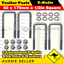 Trailers Agriculture/farming Just Set Of 4 10mm Trailer U Bolts Square Type Includes Nyloc Nuts Clearance New