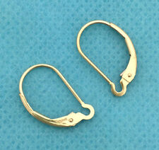 10x Leverback 14k gold filled Plain interchange lever back earring ear wire E06g