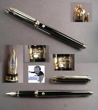 Elysee Laque Intarsia noire fountain pen mint condition rare  #