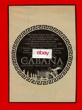 CABANA HOTEL PALO ALTO 4290 EL CAMINO REAL LUXURIOUS 200 EMPEROR ROOMS 1968 AD